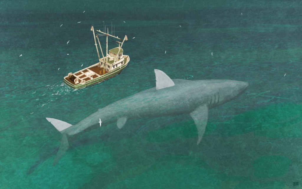 ikan hiu megalodon terbesar di dunia